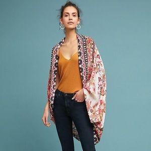 Anthropologie Josephina Cocoon Kimono Wrap Floral